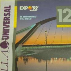 Folletos de turismo: DOCUMENTO TURÍSTICO. EXPO SEVILLA 92 1992. EL ENCUENTRO DEL SIGLO 12. 12PAG. 60GR. 195. Lote 244764435