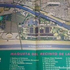 Folletos de turismo: DOCUMENTO TURÍSTICO. EXPO SEVILLA 92 1992. MAQUETA DEL RECINTO DE LA EXPO 1992. 201. Lote 244765365
