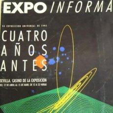 Folletos de turismo: DOCUMENTO TURÍSTICO. EXPO SEVILLA 92 1992. DÍPTICO CUATRO AÑOS ANTES EXPOSICION CASINO. 202. Lote 244765535