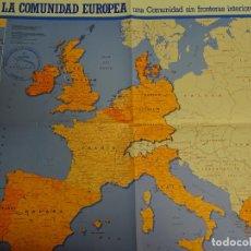 Folletos de turismo: DOCUMENTO TURÍSTICO. EXPO SEVILLA 92 1992. MAPA PABELLÓN DE LA COMUNIDAD EUROPEA. 205. Lote 244766415