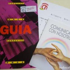 Folletos de turismo: DOCUMENTO TURÍSTICO. EXPO SEVILLA 92 1992. GUÍA PABELLÓN ONCE + DOCUMENTOS. 18P. 160GR. 211. Lote 244767430