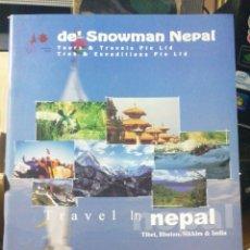 Folletos de turismo: DE´S SNOWMAN NEPAL TOURS & TRAVELS. TRECK & EXEDITIONS. IN FOLIO ILUSTRADO 58 PP. SIN FECHA. Lote 245287180