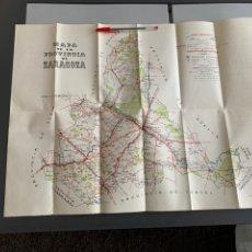 Folletos de turismo: MAPA Y DATOS DE INTERÉS. PROVINCIA DE ZARAGOZA. AÑOS 60. Lote 246115310