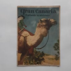 Brochures de tourisme: FOLLETO TURISMO GRAN CANARIA CONTINENTE EN MINIATURA RV. Lote 246327960