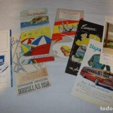 Folletos de turismo: AGENCIAS AUTOCARES PULLMAN Y OTROS / LOTE ANTIGUO FOLLETOS DE TURISMO Y OTROS / AÑOS 50 - ¡MIRA!. Lote 247217825