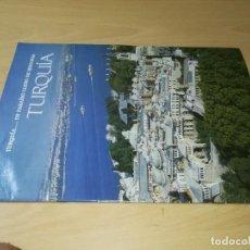 Folletos de turismo: TURQUIA, UN PARAISO LLENO DE HISTORIA / / FOLLETO TURISTICO / AE405. Lote 248081620