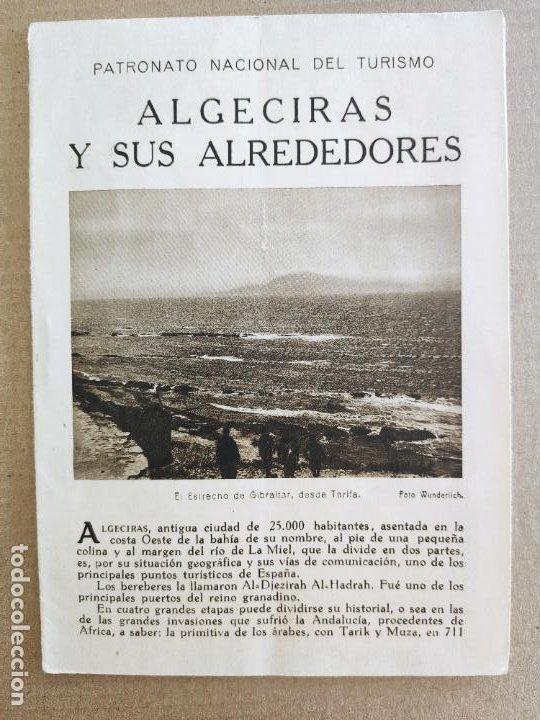 PNT - ALGECIRAS Y SUS ALREDEDORES - FOLLETO TURISTICO - PATRONATO NACIONAL DE TURISMO (Coleccionismo - Folletos de Turismo)