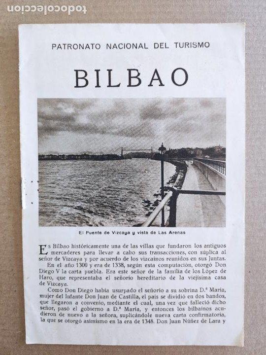 PNT - BILBAO - FOLLETO TURISTICO - PATRONATO NACIONAL DE TURISMO (Coleccionismo - Folletos de Turismo)