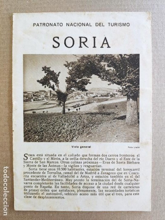 PNT - SORIA - FOLLETO TURISTICO - PATRONATO NACIONAL DE TURISMO (Coleccionismo - Folletos de Turismo)