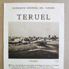 Folletos de turismo: PNT - TERUEL - FOLLETO TURISTICO - PATRONATO NACIONAL DE TURISMO. Lote 248195350