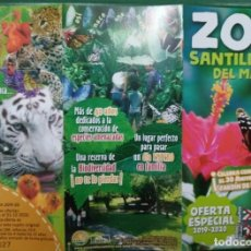 Folletos de turismo: ZOO SANTILLANA DEL MAR. Lote 249255420