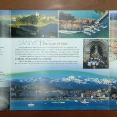 Folletos de turismo: SAN VICENTE DE LA BARQUERA ( SHAPED BY THE CENTURIES). Lote 249265890