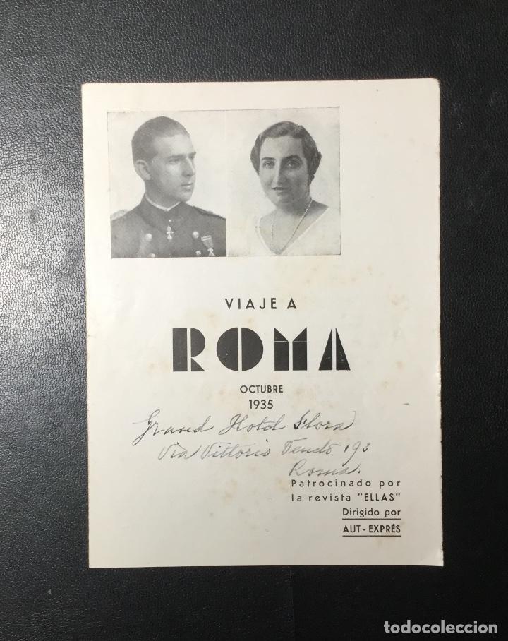 D. JUAN DE BORBON Y MARÍA DE LAS MERCEDES , 1935 ,VIAJE A ROMA A LA BODA , REVISTA ELLAS. (Coleccionismo - Folletos de Turismo)