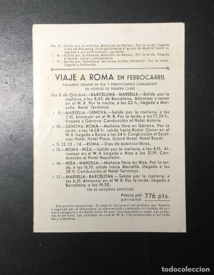 Folletos de turismo: D. JUAN DE BORBON Y MARÍA DE LAS MERCEDES , 1935 ,VIAJE A ROMA A LA BODA , REVISTA ELLAS. - Foto 2 - 249543580