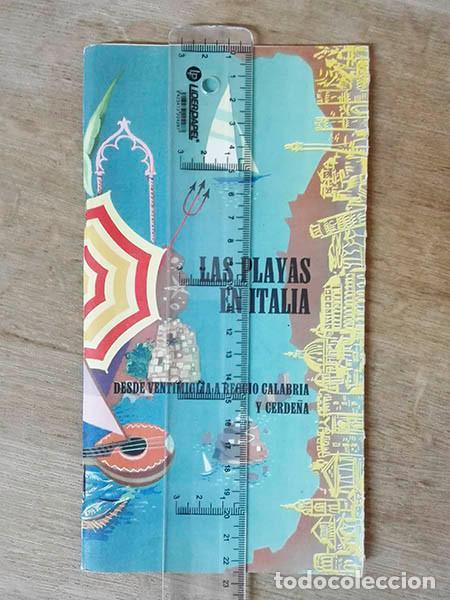 CUADERNILLO TURÍSTICO. PLAYAS EN ITALIA. AÑO: 1961. DESDE VENTIMIGLIA A REGGIO CALABRIA Y CERDEÑA. (Coleccionismo - Folletos de Turismo)