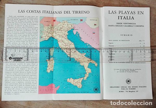 Folletos de turismo: Cuadernillo turístico. Playas en Italia. Año: 1961. Desde Ventimiglia a Reggio Calabria y Cerdeña. - Foto 2 - 250255665