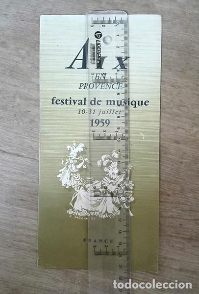 PROGRAMA FESTIVAL DE MÚSICA, 1959 (AIX-EN-PROVENCE. FRANCIA). (Coleccionismo - Folletos de Turismo)