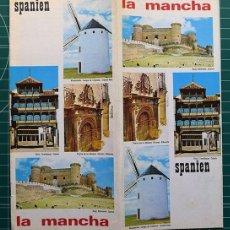 Foglietti di turismo: LA MANCHA – SPANIEN. DISEÑO JOSÉ GARCÍA OCHOA, FOTOS RAMÓN MASATS Y OTROS, 1962. TEXTE IN DEUTSCH. Lote 251266195