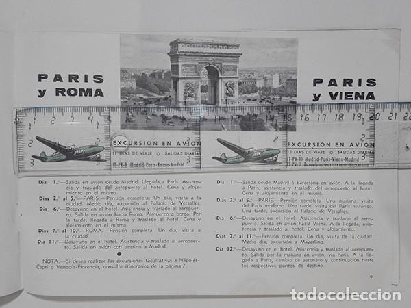 Folletos de turismo: Viajes Meliá 1959-1960. Programa de Viajes por todo el mundo. - Foto 3 - 251726905