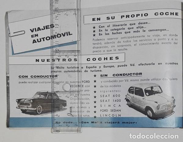 Folletos de turismo: Viajes Meliá 1959-1960. Programa de Viajes por todo el mundo. - Foto 6 - 251726905