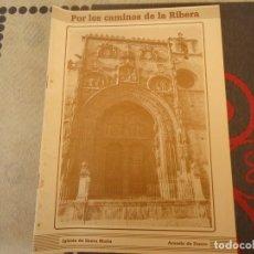 Folletos de turismo: POR LOS CAMINOS DE LA RIBERA, IGLESIA DE SANTA MARIA. Lote 253254580