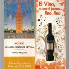 Folletos de turismo: AYUNTAMIENTO DE SEVILLA. FIESTAS MAYORES. PLANO FERIA ABRIL 2005. (C/A28). Lote 253872480