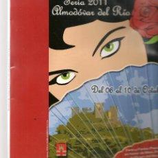 Folletos de turismo: ALMODOVAR DEL RÍO. FERIA 2011. (C/A28). Lote 253895950