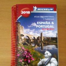 Folletos de turismo: GUÍA MICHELÍN ESPAÑA PORTUGAL 2018. Lote 254322750