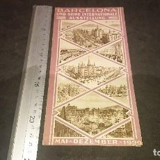 Folletos de turismo: ANTIGUO FOLLETO BARCELONA EXPOSICION INTERNACIONAL 1929 , EN ALEMAN , AUND SEINE , LEER DESCRIPCION. Lote 254458565