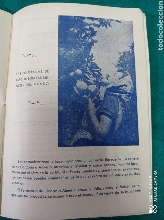 Folletos de turismo: PROGRAMA FIESTAS DE GADOR ALMERÍA 1958 - Foto 8 - 254599370