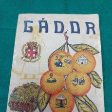 Folletos de turismo: PROGRAMA FIESTAS DE GADOR ALMERÍA 1958. Lote 254599370