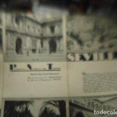 Folhetos de turismo: SEVILLA - FOLLETO TURISMO - EN INGLES - TRIPTICO - AÑOS 1930-40. Lote 256088660