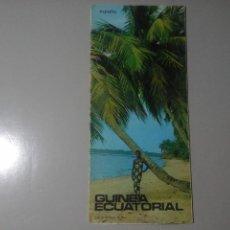 Folhetos de turismo: GUINEA ECUATORIAL. ESPAÑA. SUBSECRETARÍA DE TURISMO (CA. 1960). FOLLETO DESPLEGABLE. RARO. Lote 258216230