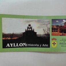 Folletos de turismo: AYLLÓN (SEGOVIA). HISTORIA Y ARTE. C. 2001.. Lote 261212065