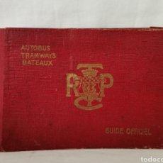 Folletos de turismo: GUIDE OFFICIEL AUTOBUS TRAMWAYS BATEAUX. Lote 261958805