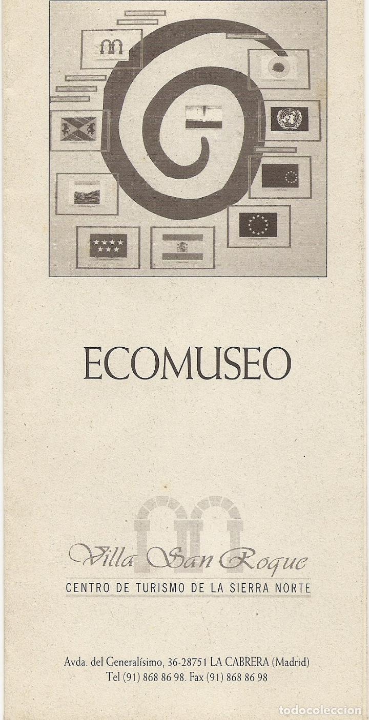 ECOMUSEO - VILLA SAN ROQUE - FOLLETO Y PLANO - DESPLEGABLE (Coleccionismo - Folletos de Turismo)