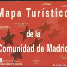 Folletos de turismo: MAPA TURISTICO DE LA COMUNIDAD DE MADRID - DESPLEGABLE. Lote 262024235
