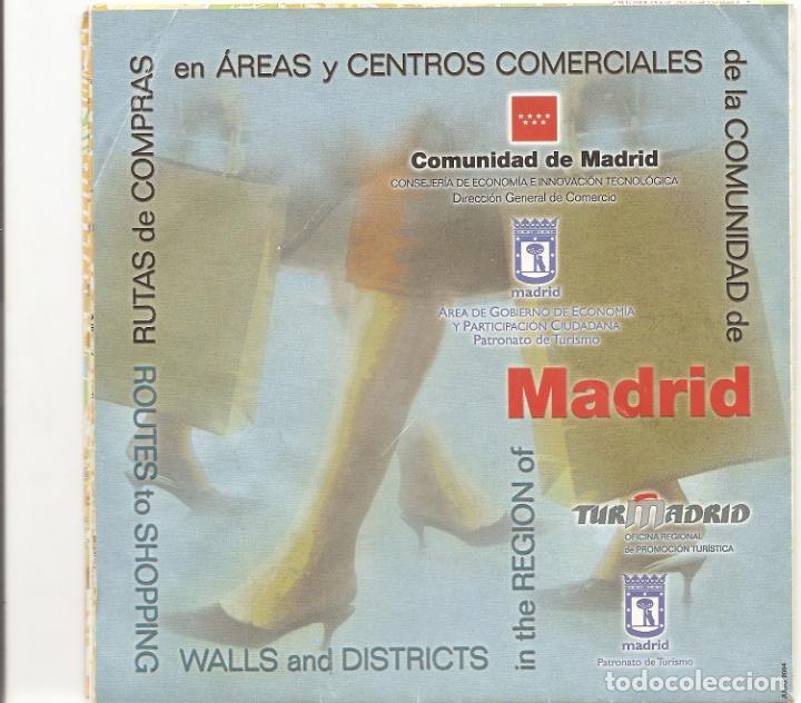 AREAS Y CENTROS COMERCIALES - MADRID - DESPLEGABLE (Coleccionismo - Folletos de Turismo)