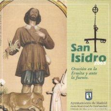 Folletos de turismo: SAN ISIDRO 2003/4 - DESPLEGABLE. Lote 262024600