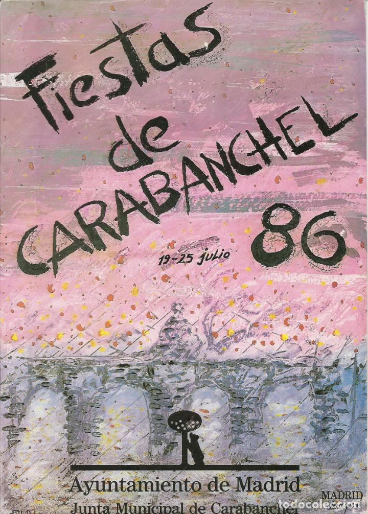 FIESTAS DE CARABANCHEL 1986 - 24 PAG. ENTRE INFORMACION Y PUBLICIDAD (Coleccionismo - Folletos de Turismo)