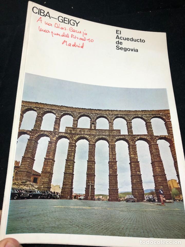 EL ACUEDUCTO DE SEGOVIA. CIBA-GEIGY. RESTAURACIÓN. FOLLETO DE 1973 ILUSTRADO (Coleccionismo - Folletos de Turismo)