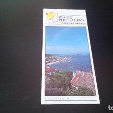 Folletos de turismo: GUÍA FOLLETO TURISTICO RÍA DE PONTEVEDRA Y ZONA CENTRO DE LA PROVINCIA - DIPUTACIÓN AÑOS 80. Lote 262060965