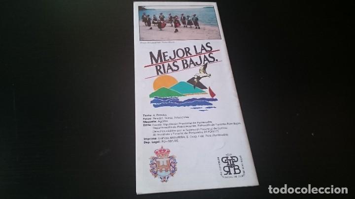 Folletos de turismo: GUÍA FOLLETO TURISTICO RÍA DE PONTEVEDRA Y ZONA CENTRO DE LA PROVINCIA - DIPUTACIÓN AÑOS 80 - Foto 2 - 262060965