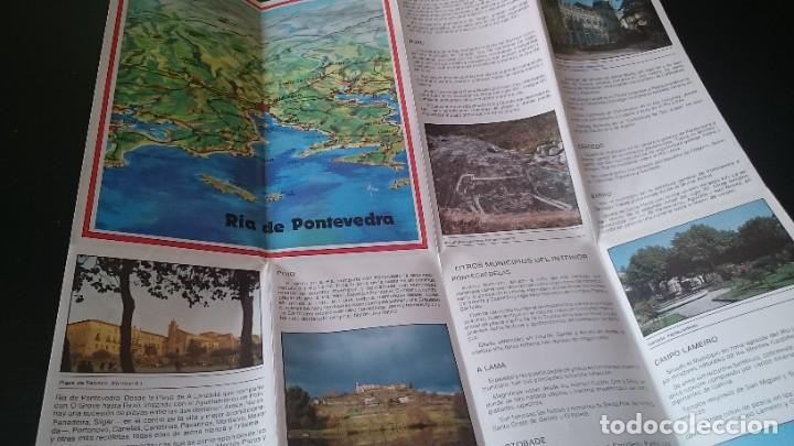 Folletos de turismo: GUÍA FOLLETO TURISTICO RÍA DE PONTEVEDRA Y ZONA CENTRO DE LA PROVINCIA - DIPUTACIÓN AÑOS 80 - Foto 3 - 262060965