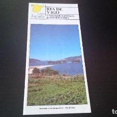 Folletos de turismo: GUÍA FOLLETO TURISTICO RÍA DE PONTEVEDRA Y ZONA SUR DE LA PROVINCIA - DIPUTACIÓN AÑOS 80. Lote 262061390