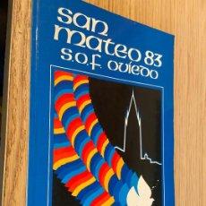 Folletos de turismo: SAN MATEO 83 S.O.F OVIEDO / FOTOGRAFIAS A COLOR. Lote 262249210