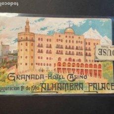 Folletos de turismo: HOTELES - GRANADA -HOTEL CASINO INAGURACION 1 DE MAYO 1910 ALAHMBRA PALACE -4 PÁG 14,5X9 CM.. Lote 262380530