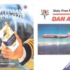 Folletos de turismo: DUTY FREE TARIFF. DAN AIR. 1977. TRÍPTICO. DOBLEZ. 20X15 CM.. Lote 262606400