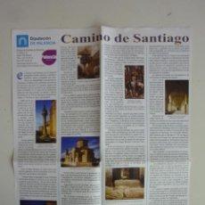 Folletos de turismo: FOLLETO CAMINO DE SANTIAGO PALENCIA MAPA E INFORMACIÓN CASTILLA Y LEÓN TURISMO [2018]. Lote 263196795