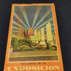 Folletos de turismo: TRIPTICO DESPLEGABLE RECUERDO DE LA EXPOSICIÓN UNIVERSAL BARCELONA 1929. MUY RARO. Lote 263954960